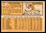 1963 Topps #341 xDOT Jack Baldschun  Back Thumbnail