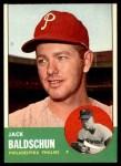 1963 Topps #341 xDOT Jack Baldschun  Front Thumbnail