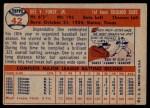 1957 Topps #42  Dee Fondy  Back Thumbnail