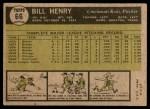 1961 Topps #66  Bill Henry  Back Thumbnail