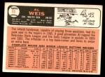 1966 Topps #66  Al Weis  Back Thumbnail