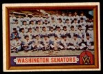 1957 Topps #270   Senators Team Front Thumbnail