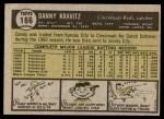 1961 Topps #166  Danny Kravitz  Back Thumbnail