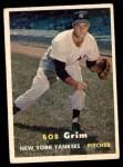 1957 Topps #36  Bob Grim  Front Thumbnail