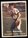 1957 Topps #17  Billy Gardner  Front Thumbnail