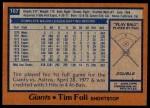 1978 Topps #167  Tim Foli  Back Thumbnail