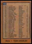 1978 Topps #356   Mets Team Checklist Back Thumbnail