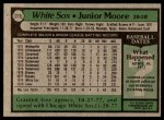 1979 Topps #275  Junior Moore  Back Thumbnail