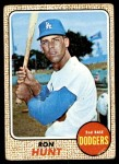 1968 Topps #15  Ron Hunt  Front Thumbnail