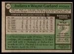 1979 Topps #636  Wayne Garland  Back Thumbnail