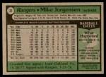 1979 Topps #22  Mike Jorgensen  Back Thumbnail