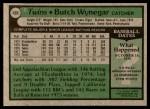 1979 Topps #405  Butch Wynegar  Back Thumbnail