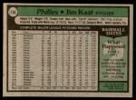 1979 Topps #136  Jim Kaat  Back Thumbnail