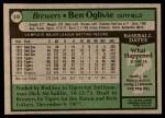 1979 Topps #519  Ben Oglivie  Back Thumbnail