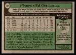 1979 Topps #561  Ed Ott  Back Thumbnail