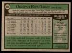 1979 Topps #666  Rich Dauer  Back Thumbnail