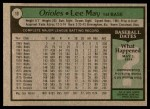 1979 Topps #10  Lee May  Back Thumbnail