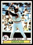 1979 Topps #10  Lee May  Front Thumbnail