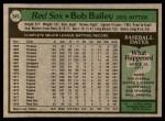 1979 Topps #549  Bob Bailey  Back Thumbnail