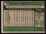 1979 Topps #276  Jim Colborn  Back Thumbnail