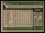 1979 Topps #86  Rodney Scott  Back Thumbnail