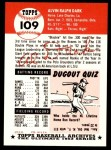 1953 Topps Archives #109  Alvin Dark  Back Thumbnail