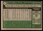 1979 Topps #431  Glenn Borgmann  Back Thumbnail