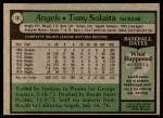 1979 Topps #18  Tony Solaita  Back Thumbnail