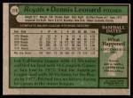 1979 Topps #218  Dennis Leonard  Back Thumbnail