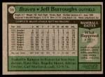 1979 Topps #245  Jeff Burroughs  Back Thumbnail