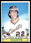 1979 Topps #512  Jack Clark  Front Thumbnail