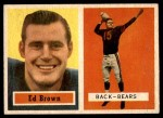 1957 Topps #43  Ed Brown  Front Thumbnail