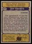 1979 Topps #337  Jeff Van Note  Back Thumbnail
