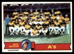 1979 Topps #328   -  Jack McKeon  Athletics Team Checklist Front Thumbnail