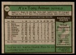 1979 Topps #507  Tony Armas  Back Thumbnail