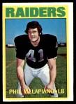 1972 Topps #108  Phil Villapiano  Front Thumbnail