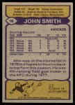 1979 Topps #16  John Smith  Back Thumbnail