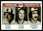 1979 Topps #701   -  Mark Corey / John Flinn / Sammy Stewart Orioles Prospects   Front Thumbnail