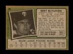 1971 Topps #26  Bert Blyleven  Back Thumbnail