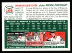 1994 Topps 1954 Archives #108  Thornton Kipper  Back Thumbnail