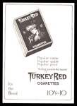 1911 T3 Turkey Red Reprint #99  Walter Johnson  Back Thumbnail
