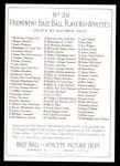 1911 T3 Turkey Red Reprint #39  Rube Waddell  Back Thumbnail