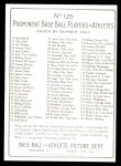 1911 T3 Turkey Red Reprint #125  Ed Walsh  Back Thumbnail