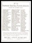 1911 T3 Turkey Red Reprint #19  Addie Joss  Back Thumbnail