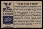1954 Bowman U.S. Navy Victories #2   To the Shores of Tripoli Back Thumbnail