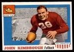 1955 Topps #2  John Kimbrough  Front Thumbnail