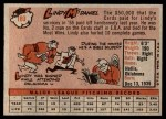 1958 Topps #180  Lindy McDaniel  Back Thumbnail
