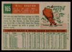 1959 Topps #165  Billy Bruton  Back Thumbnail