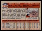 1957 Topps #279  Bob Thurman  Back Thumbnail