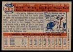 1957 Topps #202  Dick Gernert  Back Thumbnail